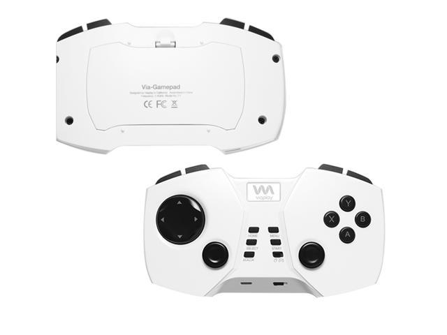 Viaplay Smart Portable Gamepad, Mobile Bluetooth Gaming Controller, Via-Gamepad F2 for Android Smartphone, Tablet, iPhone iPad (iCade Mode only), Samsung Galaxy phones - White