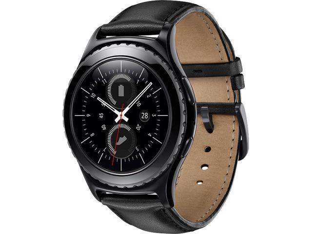 Samsung Gear S2 Classic Smartwatch with Heart Rate Monitor, SM-R7320ZKAXAC, Black