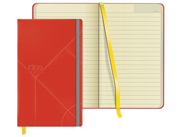 TOPS Idea Collective Medium Hardbound Journal, Wide Rule, Red