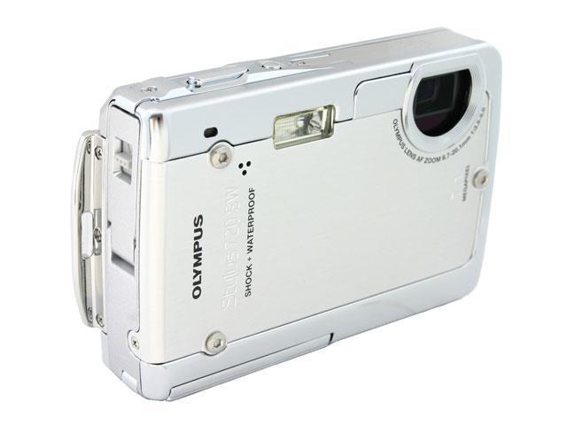 OLYMPUS Stylus 720 SW Silver 7.1 MP 3X Optical Zoom Digital Camera w/10 ft. Waterproof, 5 ft. Shock proof