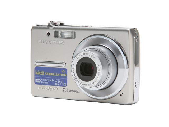 OLYMPUS FE-230 Silver 7.1 MP 3X Optical Zoom Digital Camera