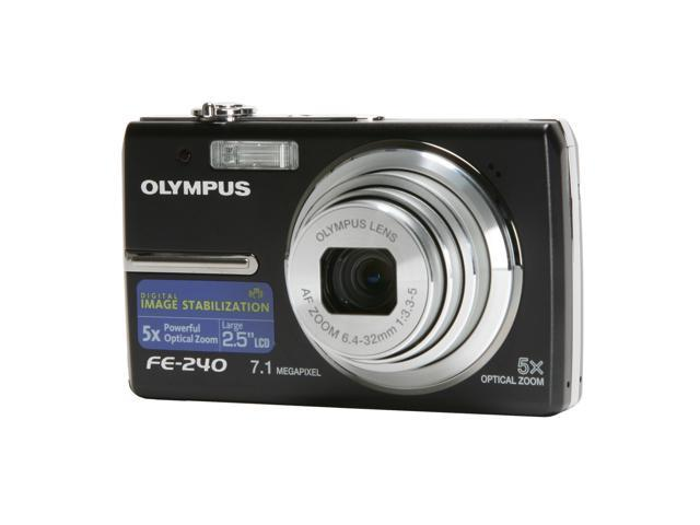 OLYMPUS FE-240 Black 7.1 MP 5X Optical Zoom Digital Camera