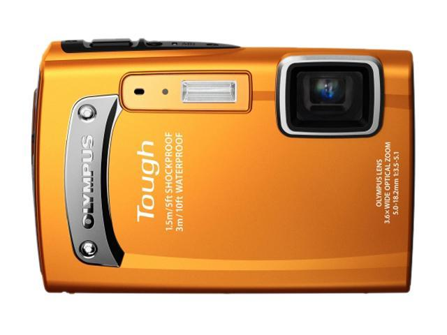 OLYMPUS TG-130 Orange 14.0 MP 3.6X Optical Zoom Waterproof 28mm Wide Angle Digital Camera