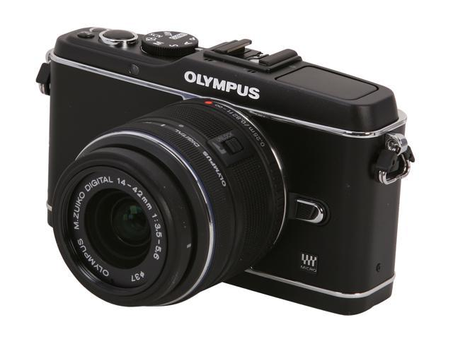 OLYMPUS PEN E-P3 V204031BU000 Black Interchangeable Lens Type Live View Digital Camera w/14-42mm Lens