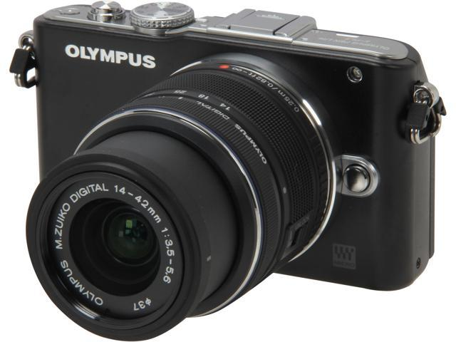 OLYMPUS PEN E-PL3 V205031BU000 Black Interchangeable Lens Type Live View Digital Camera w/14-42mm Lens