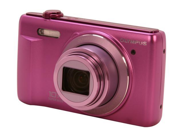 OLYMPUS VR-340 Purple 16 MP 24mm Wide Angle Digital Camera