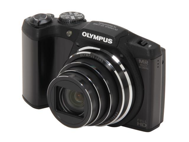 OLYMPUS SZ-31MR iHS Black 16 MP 24X Optical Zoom 25mm Wide Angle Digital Camera HDTV Output