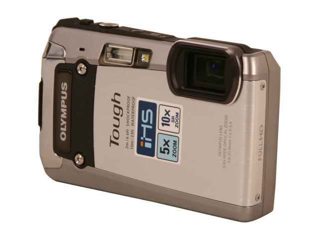 "OLYMPUS TG-820 iHS V104060SU000 Silver 12 MP 3.0"" 1030K Action Camera"