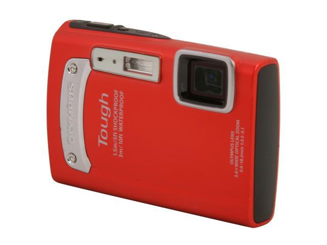 """OLYMPUS TG-320 V104080RU000 Red 14 MP 2.7"""" 230K Action Camera"""