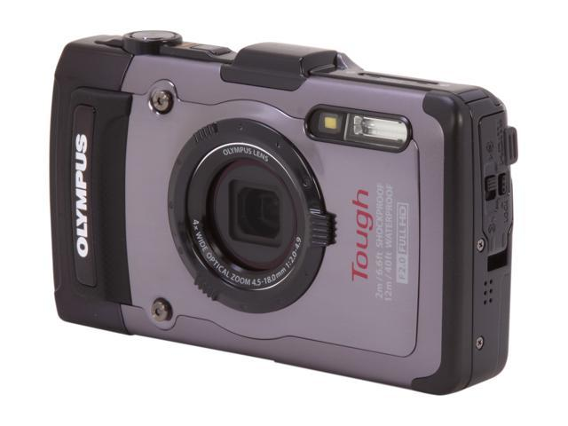 OLYMPUS Tough TG-1 iHS Silver 12 MP 4X Optical Zoom Waterproof Shockproof 25mm Wide Angle Digital Camera HDTV Output