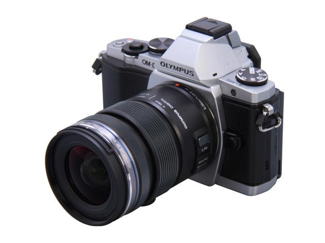 OLYMPUS E-M5 V204045SU000 Silver Micro Four Thirds interchangeable lens system camera with M.Zuiko Digital ED 12-50mm EZ