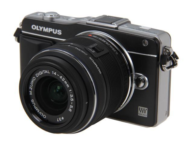 OLYMPUS E-PM2 Black Micro Four Thirds Interchangeable Lens System Camera with 14-42mm II R M. Zuiko Lens