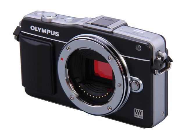 OLYMPUS E-PM2 Black Micro Four Thirds Interchangeable Lens System Camera - Body