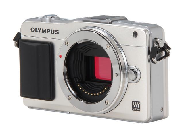 OLYMPUS E-PM2 (V206020SU000) Silver Micro Four Thirds interchangeable lens system camera - Body