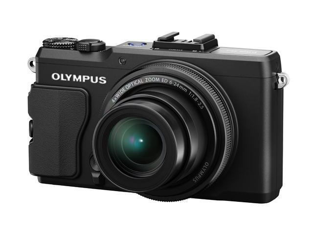 OLYMPUS XZ-2 iHS Black 12 MP 24mm Wide Angle Digital Camera HDTV Output