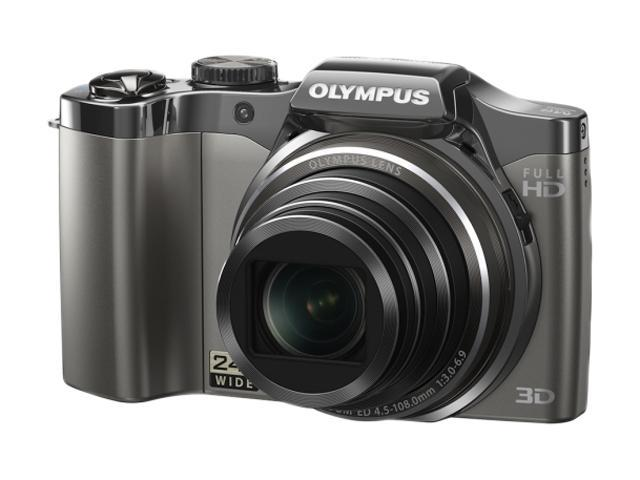OLYMPUS SZ-30MR Silver 16 MP 24X Optical Zoom 25mm Wide Angle Digital Camera HDTV Output