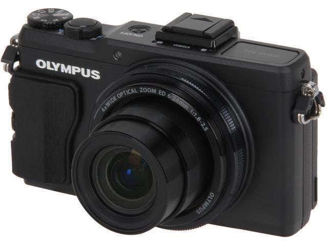 OLYMPUS XZ-2 iHS V101020BU000 Black 12 MP 24mm Wide Angle Digital Camera HDTV Output
