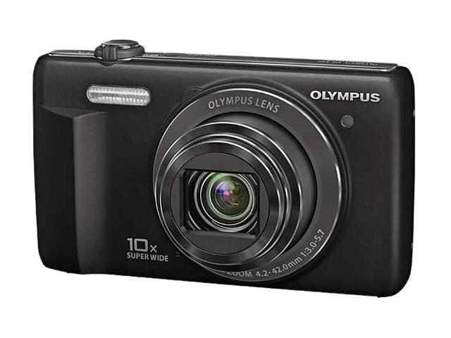 OLYMPUS VR-350 Black 16MP 24mm Wide Angle Digital Camera
