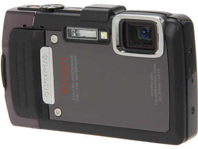 OLYMPUS TG-830 iHS Black 16 MP 5X Optical Zoom Waterproof Shockproof Wide Angle Digital Camera HDTV Output