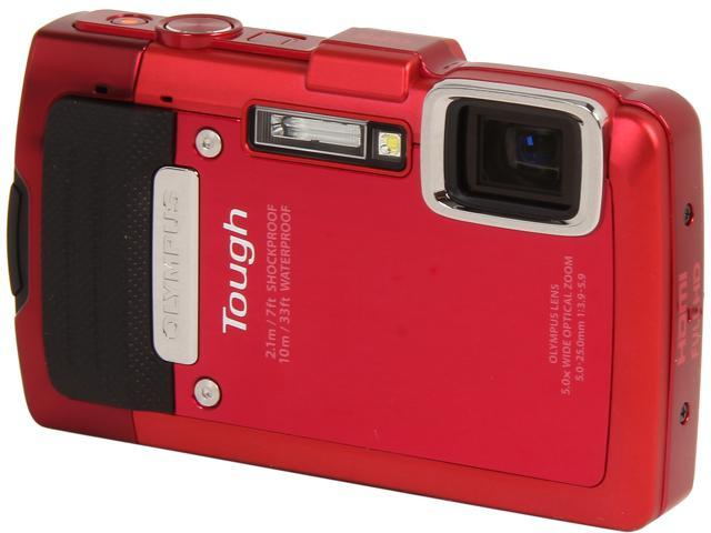 OLYMPUS TG-830 iHS Red 16 MP 5X Optical Zoom Waterproof Shockproof Wide Angle Digital Camera HDTV Output