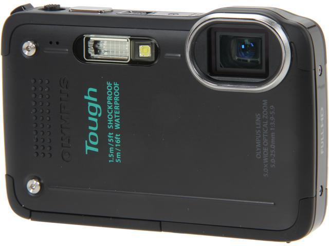 "OLYMPUS Tough TG-630 iHS V104110BU000 Black 12 MP 3.0"" 460K Digital Camera"