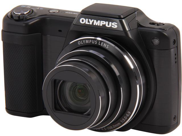 OLYMPUS SZ-15 Black 16 MP 24X Optical Zoom Wide Angle Digital Camera HDTV Output