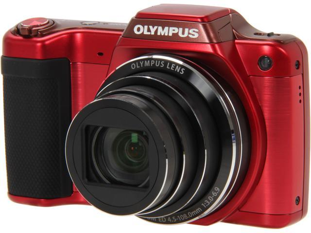 OLYMPUS SZ-15 Red 16 MP Wide Angle Digital Camera HDTV Output