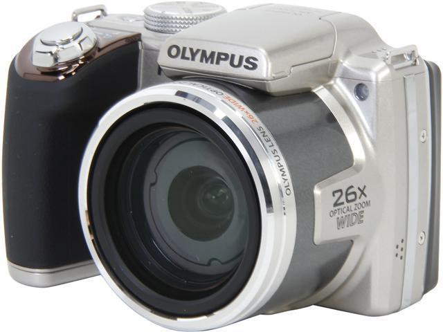 OLYMPUS SP-720UZ IHS Silver 14 MP 26X Optical Zoom Wide Angle Digital Camera HDTV Output