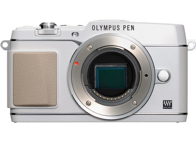 OLYMPUS PEN E-P5 V204050WU000 White Micro Four Thirds interchangeable lens system camera - Body