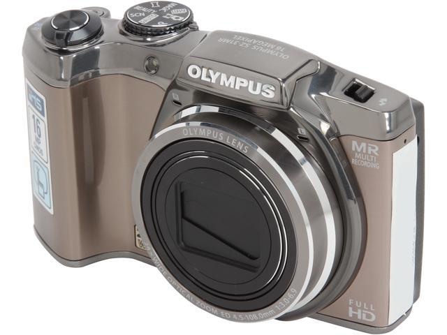 OLYMPUS SZ-31MR iHS Silver 16 MP 24X Optical Zoom 25mm Wide Angle Digital Camera HDTV Output