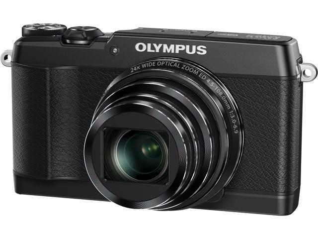 OLYMPUS Stylus SH-1 Black 16MP 24X Optical Zoom 25mm Wide Angle Digital Camera