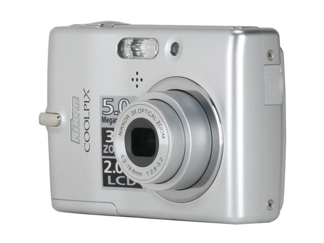 Nikon CoolPix L10 Silver 5.0 MP 3X Optical Zoom Digital Camera