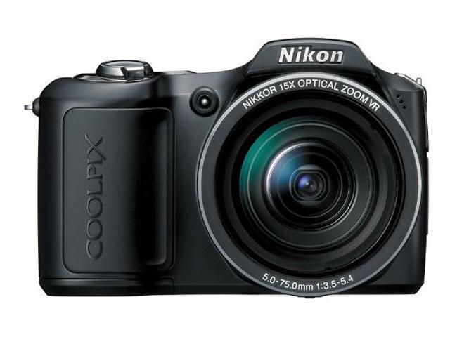 Nikon COOLPIX L100 Matte Black 10.0 MP 15X Optical Zoom Digital Camera