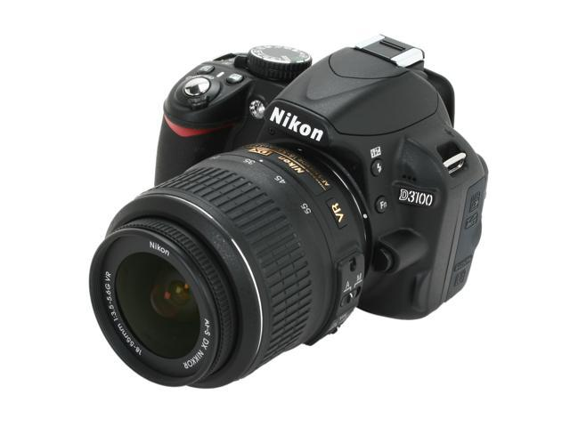 Nikon D3100 14.2MP Digital SLR Camera with 18-55mm f3.5-5.6 AF-S DX VR Nikkor Zoom Lens