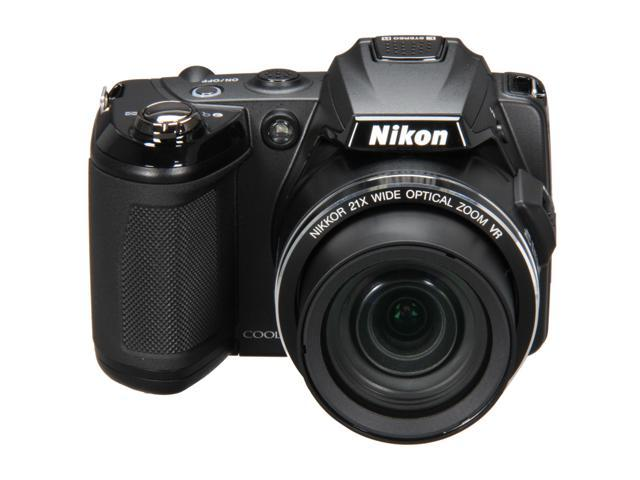 Nikon COOLPIX L120 Black 14.1 MP 21X Optical Zoom Digital Camera