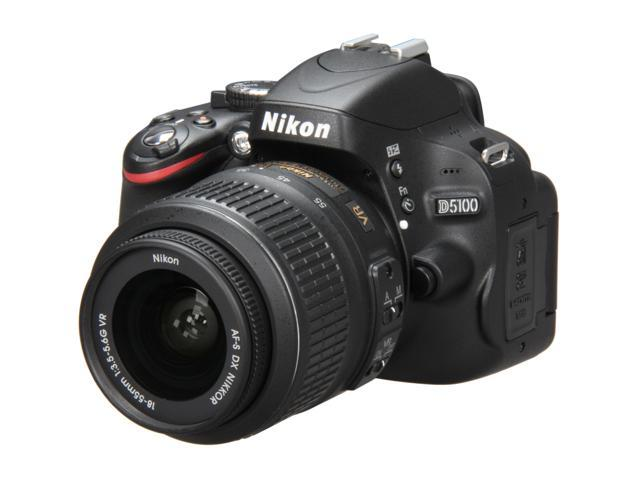Nikon D5100 CMOS Digital SLR with 18-55mm f/3.5-5.6AF-S DX VR Nikkor Zoom Lens