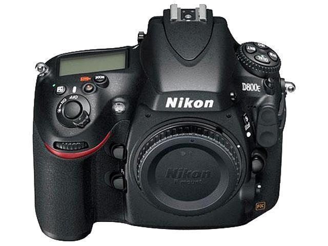 Nikon D800E 25498 Black 36.3 MP FX Format Digital SLR Camera - Body Only