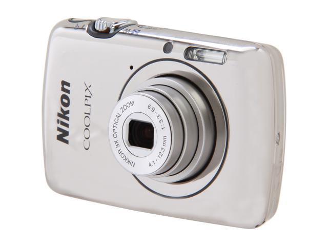 Nikon COOLPIX S01 Silver 10.1 MP 3X Optical Zoom Digital Camera