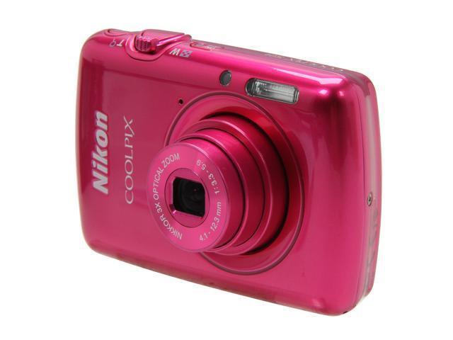 Nikon COOLPIX S01 Pink 10.1 MP 3X Optical Zoom Digital Camera