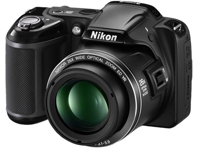 Nikon Coolpix L810 Black 16.1 MP 26X Optical Zoom Wide Angle Digital Camera HDTV Output