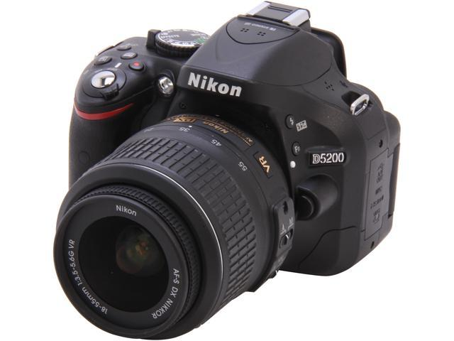 Nikon D5200 1503 Black 24.1 MP Digital SLR Camera with 18-55mm VR Lens Kit