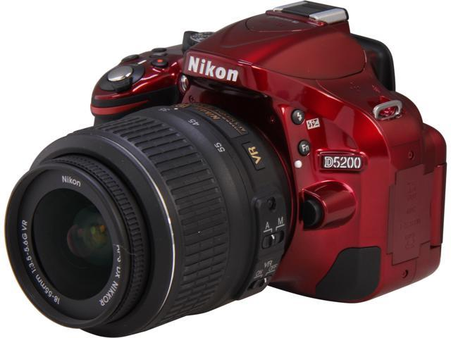 Nikon D5200 1507 Red 24.1 MP Digital SLR Camera with 18-55mm VR Lens Kit
