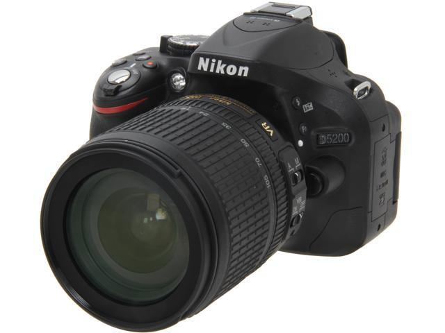 Nikon D5200 13216 Black Digital SLR Camera with 18-105mm VR Lens Kit