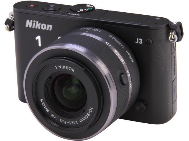 Nikon 1 J3 (27637) Black Advanced Camera with 10-30mm VR 1 NIKKOR Lens