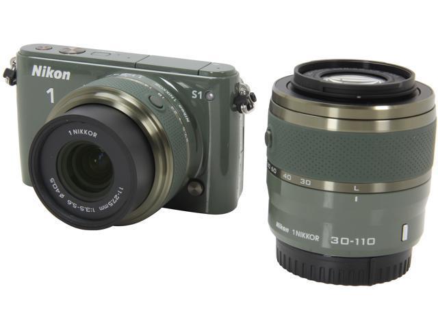 Nikon 1 S1 (27631) Khaki 10.1MP 3.0