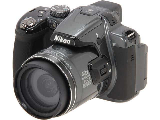 Nikon COOLPIX P520 Dark Grey 18.1 MP 42X Optical Zoom Wide Angle Digital Camera HDTV Output