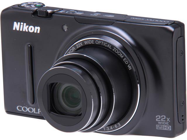 Nikon COOLPIX S9500 Black 18.1 MP 22X Optical Zoom Digital Camera