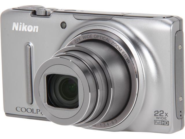 Nikon COOLPIX S9500 Silver 18.1 MP 22X Optical Zoom Digital Camera