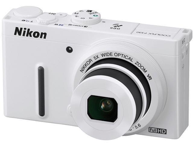 Nikon COOLPIX P330 White 12.2 MP 5X Optical Zoom 24mm Wide Angle Digital Camera