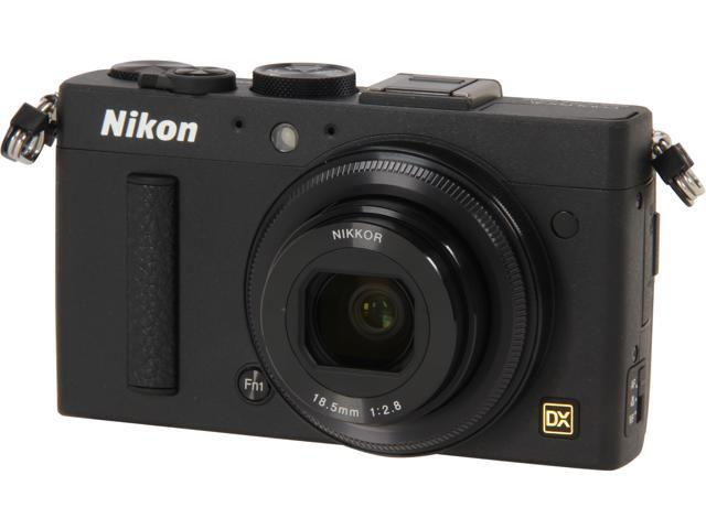 Nikon COOLPIX A Black 16.2 MP 28mm Wide Angle Digital Camera
